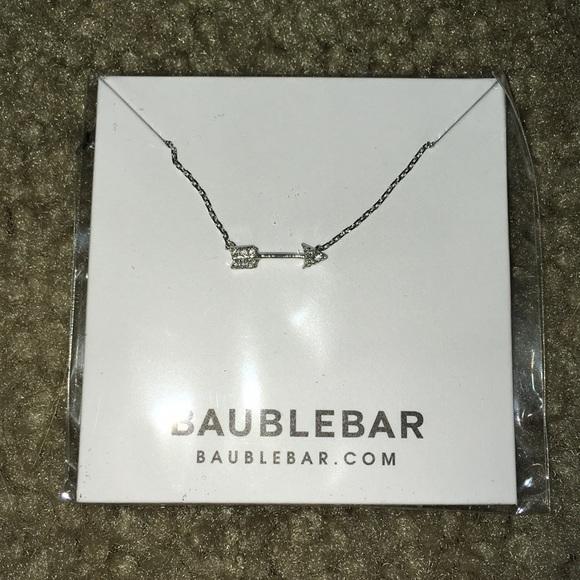 🔥 SALE! 🔥 BaubleBar Silver Arrow Necklace NWT